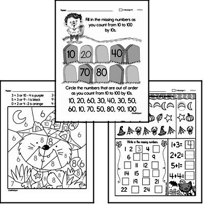 Free Kindergarten Halloween Pdf Worksheets Edhelper Com