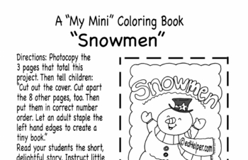 Snowmen Mini Book
