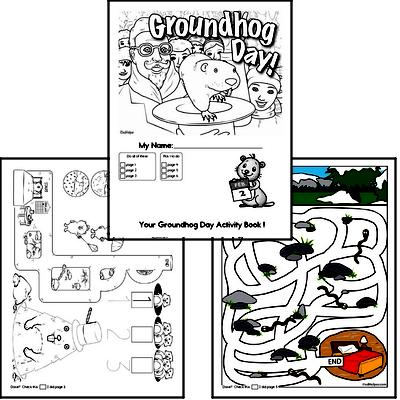 Preschool Groundhog Day Worksheets Activity Book