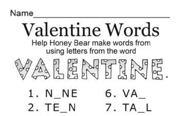 Puzzle Pages - Activity Book - for Valentine's Day