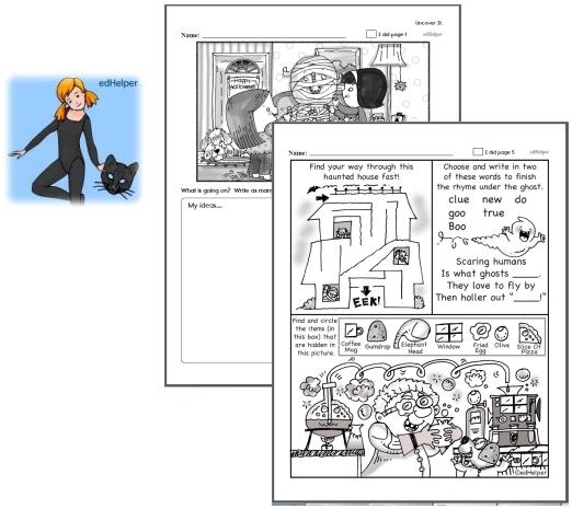 Preschool Halloween Activity Workbook