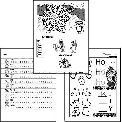 Free Winter PDF Worksheets EdHelper.com