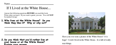 If I Lived at the White House...