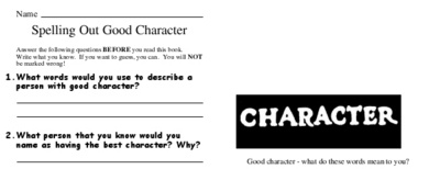 Spelling Out Good Character