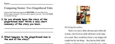 Comparing Stories: Two Gingerbread Tales