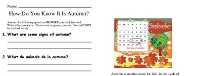 How Do You Know It Is Autumn?