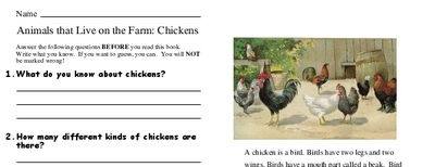Animals that Live on the Farm: Chickens