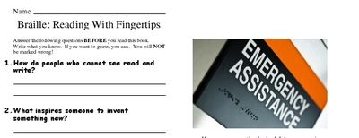 Braille: Reading With Fingertips