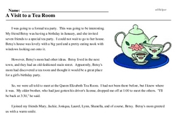 Hot Tea Month<BR>A Visit to a Tea Room