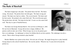The Babe of Baseball