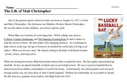 Matt Christopher<BR>The Life of Matt Christopher