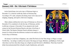 3 Kings Day<BR>January 6th - the Alternate Christmas