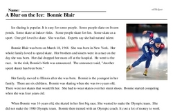 A Blur on the Ice<BR>A Blur on the Ice: Bonnie Blair