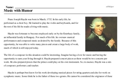 Franz Joseph Haydn<BR>Music with Humor