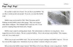 Bubble Wrap Appreciation Day<BR>Pop! Pop! Pop!
