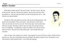 Helen's Teacher
