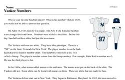 Yankee Numbers