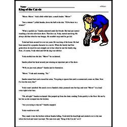 Print <i>King of the Cat-sle</i> reading comprehension.