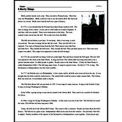 Print <i>Liberty Rings</i> reading comprehension.