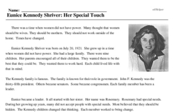 Eunice Kennedy Shriver: Her Special Touch
