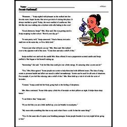 Print <i>Scent-Sational!</i> reading comprehension.