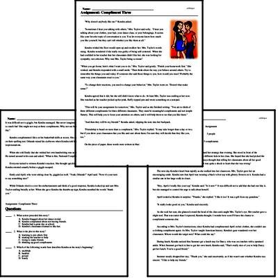 Print <i>Assignment: Compliment Three</i> reading comprehension.