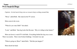 Print <i>9-11 Search Dogs</i> reading comprehension.