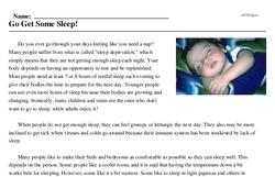 Go Get Some Sleep!