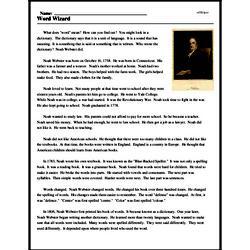 Print <i>Word Wizard</i> reading comprehension.
