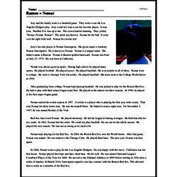 Print <i>Ramon = Nomar</i> reading comprehension.