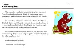 Print <i>Groundhog Day</i> reading comprehension.