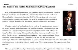 The Ends of the Earth: Ann Bancroft, Polar Explorer