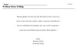 Written Story-Telling