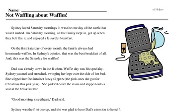 Not Waffling about Waffles!