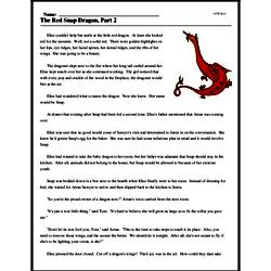 Print <i>The Red Snap Dragon, Part 2</i> reading comprehension.