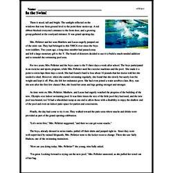 Print <i>In the Swim!</i> reading comprehension.