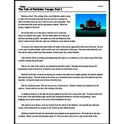 Print <i>The Tale of Patricius: Voyage, Part 1</i> reading comprehension.