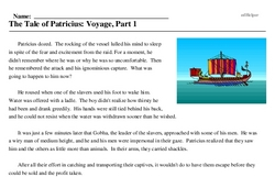 The Tale of Patricius: Voyage, Part 1