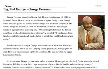 Big, Bad George - George Foreman