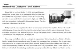 Broken Bone Champion - Evel Knievel