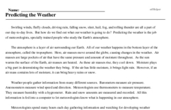 National Weatherperson Day<BR>Predicting the Weather