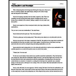 Print <i>Marshmallows and Moonlight</i> reading comprehension.