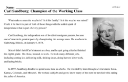 Carl Sandburg: Champion of the Working Class