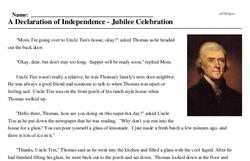 A Declaration of Independence - Jubilee Celebration