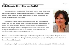 Polly Horvath--Everything on a Waffle?