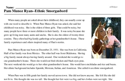 Pam Munoz Ryan--Ethnic Smorgasbord