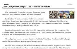 Jean Craighead George: The Wonders of Nature