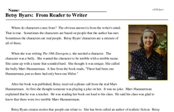 Betsy Byars: From Reader to Writer