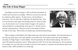 The Life of Jean Piaget