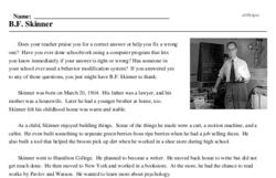 Print <i>B.F. Skinner</i> reading comprehension.